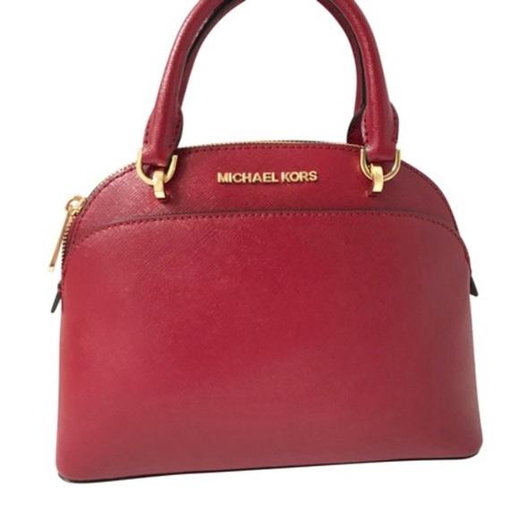 bced9a514d49 Michael Kors Bags | Emmy Cherry Small Dome Satchel | Poshmark